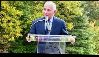 "Anthony Fauci: premio ""Res Publica"" nell'ambasciata di Washington D. C."
