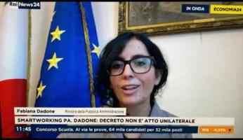 Ministra monregalese Dadone (P.A.) a Rainews sul decreto: «Serve almeno il 50% di smart working»